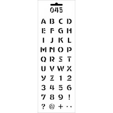 Трафарет Цифры и буквы латиница (тонкие) (ДП-Т-045)