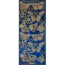Наклейка дизайнерская голограмма Бабочки, голубой (UR-59230016)