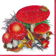 Салфетка Грибы-мухоморы (110)