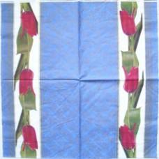 Салфетка Декоративная полоска тюльпанов (197)