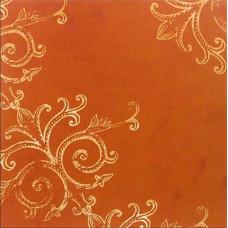 Лист бумаги 30х30 Tim Coffey Fall Gold Scroll on Rust (159921) (101)