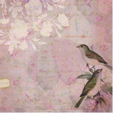Лист бумаги 30х30 Brenda Walton Flora & Fauna Lovebirds (601390) (102)