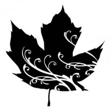 Штамп Mini Maple Leaf Swirl (30240)