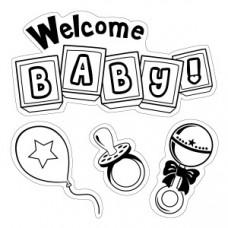 Штамп Welcome Baby (60008)