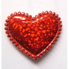 Объёмное украшение Мерцающее сердце, большое