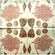 Салфетка Морские кораллы и ракушки (265)