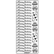 Наклейка HAPPY BIRTHDAY 2, ЗОЛОТО (UR-59100011)