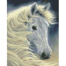 Белый конь Лунное сияние (98827)
