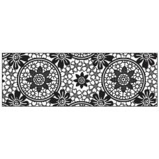 Калька черно-белая Круглый орнамент, 115 г. (UR-53984605R)