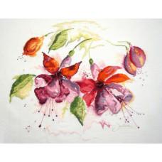 Фуксия - Fuchsia in Watercolor (PN8026)