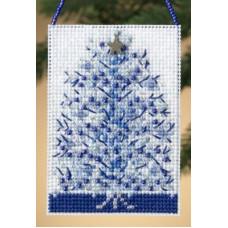 Набор для вышивания Mill Hill Серебристая елка (MH160303)