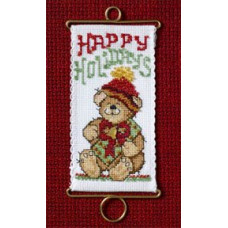Набор для вышивания Mill Hill С праздником Медведь (MH126303)