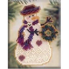 Набор для вышивания Mill Hill Снеговик с венком (MHSC26)