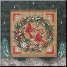 Набор для вышивания Mill Hill Венок с кардиналами (MHCB223)