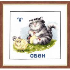 Набор для вышивания крестиком Золотое руно Знак зодиака Овен (ВЛ-001)