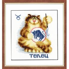 Набор для вышивания крестиком Золотое руно Знак зодиака Телец (ВЛ-002)