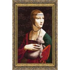 Набор для вышивания крестиком Золотое руно Дама с горностаем (МК-016)