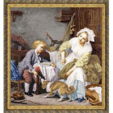 Набор для вышивания крестиком Золотое руно Балованное дитя (МК-017)