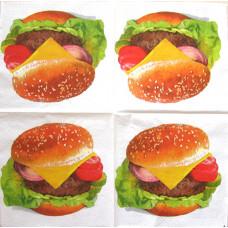 Салфетка Аппетитный гамбургер (309)