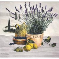 Салфетка Лаванда, лимоны и оливы (313)