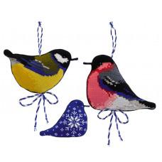 Набор для вышивания крестом Риолис Зимние птички (1742)