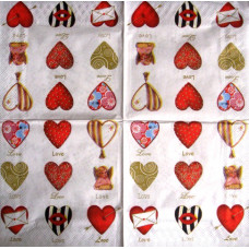 Салфетка Любовь в сердце (326)