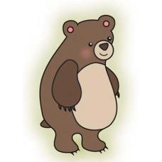 Штамп Happy Camper Bear (3030)