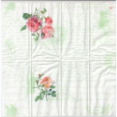 Салфетка-платочек Розы на фоне письма (405)