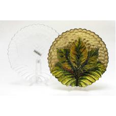 Тарелка стеклянная для декора Tabak (Б-РУТ-10288)