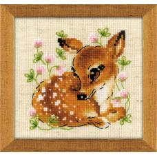 Набор для вышивания крестом Риолис Маленький олень (1777)