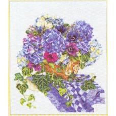 Букет голубых цветов (TG3025A)