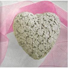 Салфетка Кружевное сердце (504)