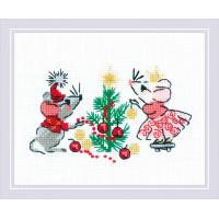 Набор для вышивания крестом Риолис Ожидание праздника (1823)