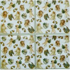 Салфетка Ангелочки на счастье (маленькая) (475)