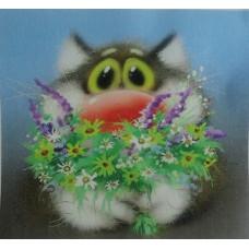 Картинка на водорастворимой бумаге Кот