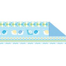 Калька Baby ГОЛУБАЯ, мотив ПОЛОСКИ-ОРНАМЕНТЫ, 115г (UR-53394601R)