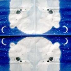 Салфетка Белые медведи полярной ночью (555)