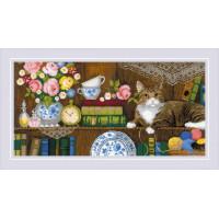 Набор для вышивания крестом Риолис Панно/две подушки Домашний уют (1815)