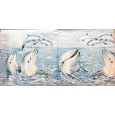 Салфетка Игривые дельфины (593)