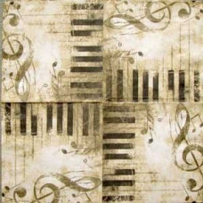 Салфетка Винтажная музыка (маленькая) (604)