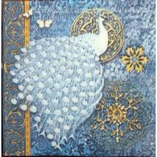 Салфетка Белый павлин (маленькая) (609)