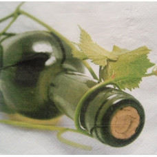 Салфетка Бутылка вина, лоза (611)