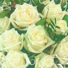 Салфетка Белые розы (231)