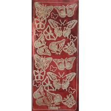 Наклейка Бабочки, гоограммный красный (UR-59220016)