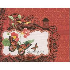 Заготовка для открытки с конвертом, Бабочки (14 х 10,5), 00024 (79)