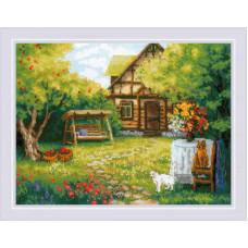 Набор для вышивания крестом Риолис Загородный домик (1845)