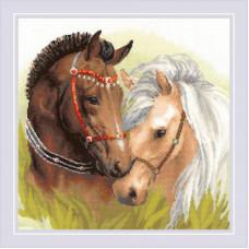 Набор для вышивания крестом Риолис Пара лошадей (1864)