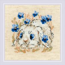 Набор для вышивания крестом Риолис Маленький зайка (1877)