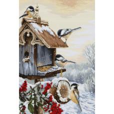Набор для вышивания крестом Luca-S Птичий двор (BU4021)