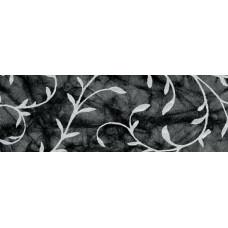 Бумага батик с серебряным узором Акант, ЧЕРНЫЙ (UR-14752290R)